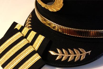 piloot pet en strepen